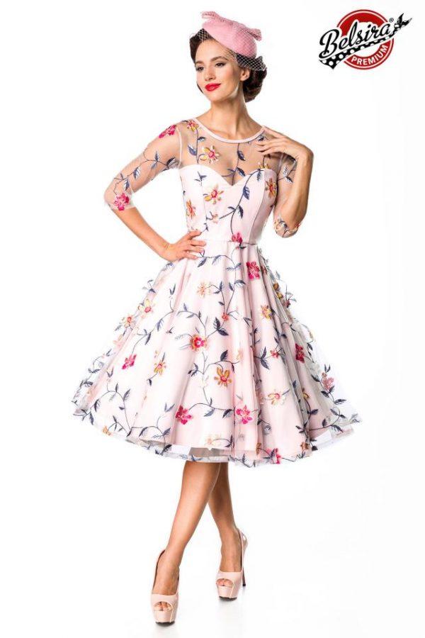 50174 007 XXX 00 600x900 - Belsira Premium Flower dvetlična obleka AX-50174
