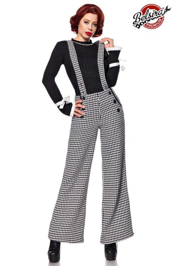 50177 010 XXX 00 600x900 - Belsira Premium Marlene hlače na naramnice AX-50177