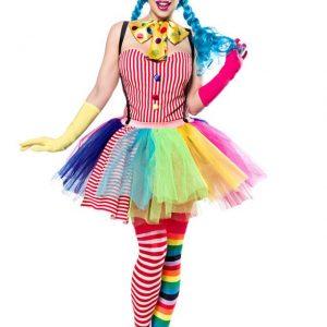 80128 066 XXX 00 300x300 - Pustni kostum kloven dekle Clown Girl AX-80128