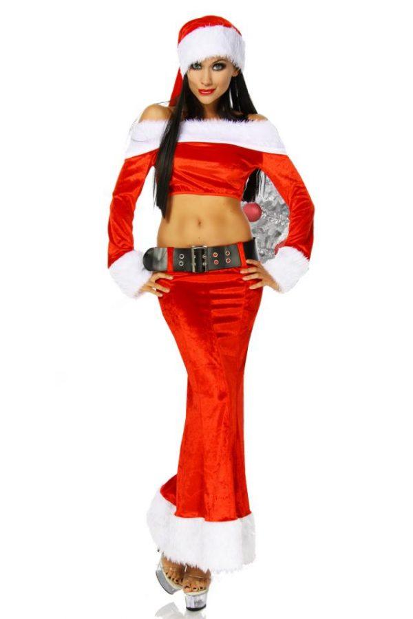 12179 009 XXX 00 600x900 - Božični kostum zapeljivka kratki top dolgo krilo set AX-12179