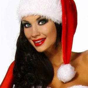 12322 009 XXX 00 300x300 - Božični dolg klobuk z široko obrobo in cofom AX-12322