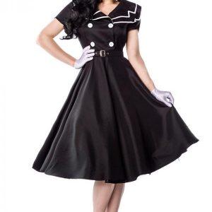 12608 010 XXX 00 300x300 - Rockabilly obleka satenasta v mornarskem stilu  AX-12608