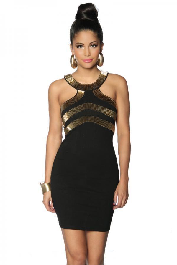 12999 002 XXX 00 600x900 - Party obleka dekor iz zlate barve AX-12999