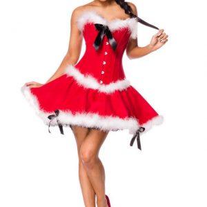 80019 009 XXX 00 300x300 - Božična obleka kostum z obrobami  Miss Santa AX-80019