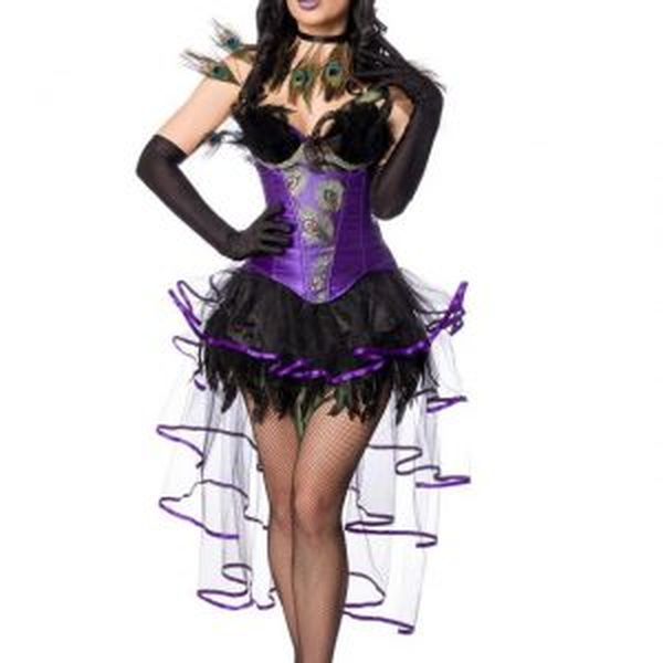 80151 085 XXX 00 300x300 - Pustni kostum obleka Pav Peacock Girl AX-80151
