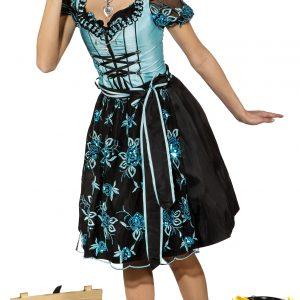 9765 R 300x300 - Dirndl, turquoise-črna (obleka lined z lace blouse,lace prdečapastnik)