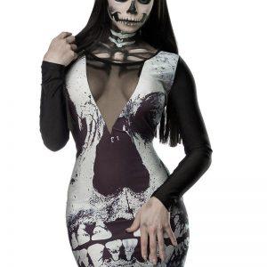 14350 023 XXX 00 300x300 - Obleka tisk sklelet Skull Minidress AX-14350