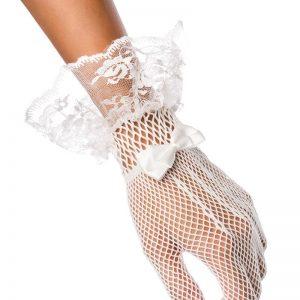 kratke mrežaste rokavice za poroko