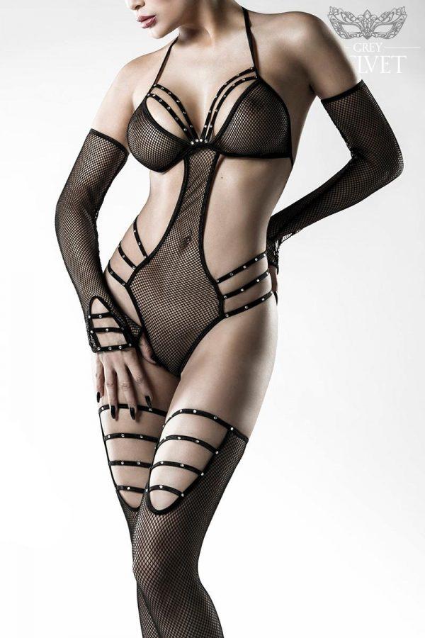 14490 002 XXX 00 600x900 - 4-delni erotik  Body Set by Grey  mrežni netki AX-14490
