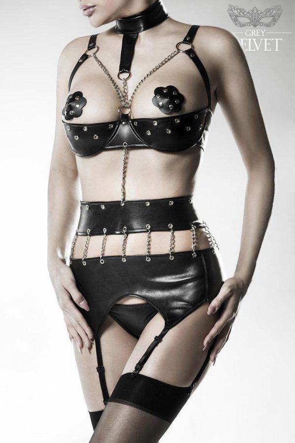14507 002 XXX 00 600x900 - 4-delni erotik wetllok Body Set by Grey Velvet AX-14507