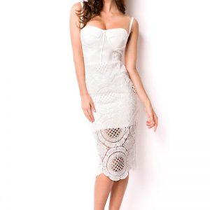 14667 014 XXX 00 300x300 - Bandage Shape obleka bela čipka  AX-14667
