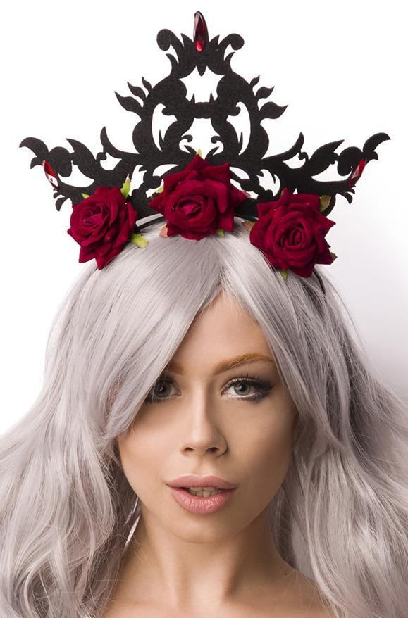 14879 021 XXX 00 - Naglavni pokrivalo rože krona Crown with Roses AX-14879