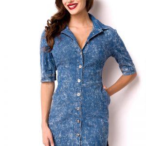 15003 015 XXX 00 300x300 - Jeans dolga srajčna obleka  AX-15003
