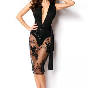 15097 002 XXX 00 300x300 - Party obleka s prozornim krilom  AX-15097