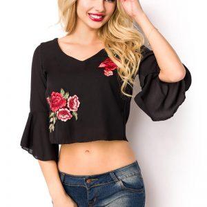 15110 002 XXX 00 300x300 - Bluza poletna v izrez rože AX-15110