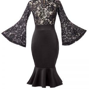 15207 002 XXX 00 300x300 - Elegantna obleka čipka dolg rokav AX-15207