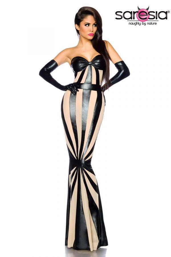 18166 065 XXX 00 600x900 - Wetlook obleka večerna dolga by Saresia AX-18166