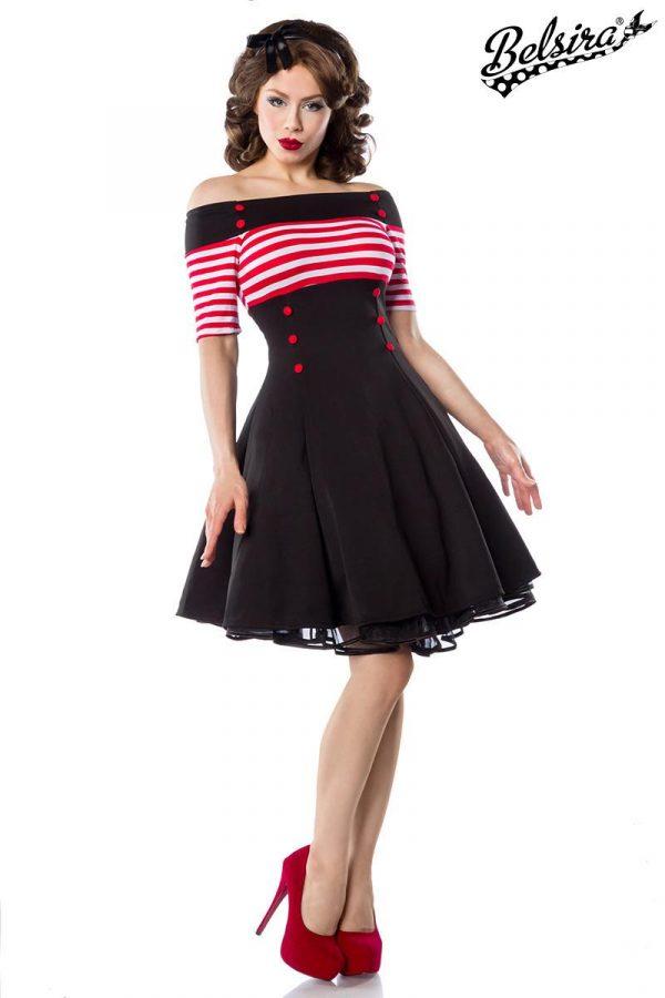 50001 059 XXX 00 600x900 - Vintage poletna obleka ramena odprta z gumbi   AX-50001