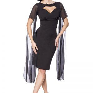 50107 002 XXX 00 300x300 - Retro obleka svečana črna dolgi prozorni rokav AX-50107