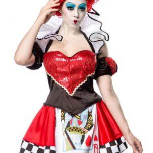 80035 059 XXX 00 300x300 - Pustni kostum rdeč kraljica Queen in Red  AX-80035
