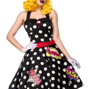 80055 119 XXX 00 300x300 - Pustni kostum obleka zabavna Pop Art Girl AX-80055