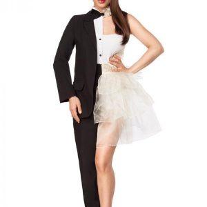 80097 010 XXX 00 300x300 - Komplet pustni kostum moški-ženska pol pol Mr Miss AX-80097