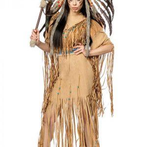 80108 086 XXX 00 300x300 - Komplet pustni kostum indijanka Native American ženski AX-80108
